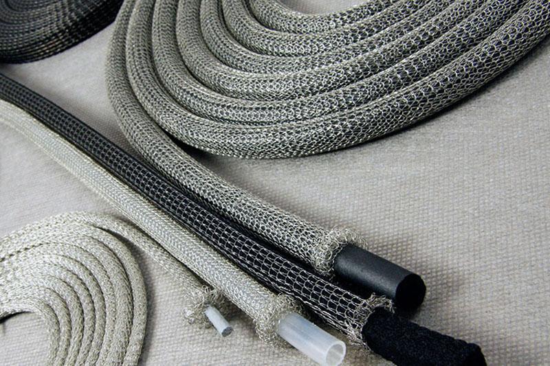Knitted mesh RF shielding