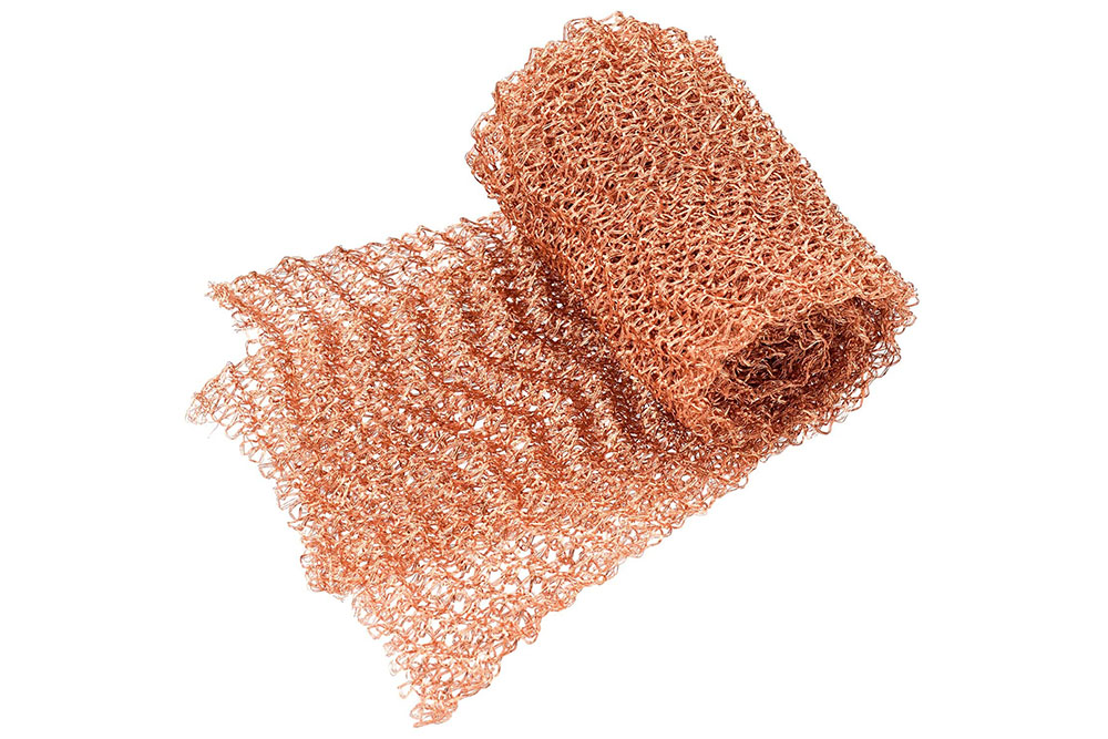 Ginning copper knitted mesh